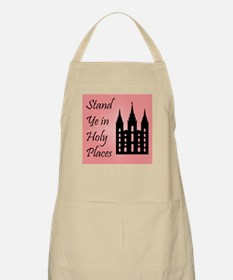 Stand Ye In Holy Places on Pink Apron