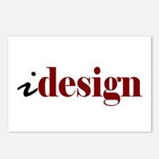 "I ""Design"" (red) Postcards (Package of 8)"