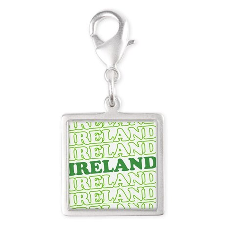 Ireland St Patricks Day Silver Square Charm