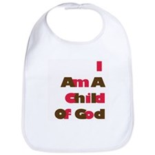 I Am A Child of God in Pink and Brown Bib