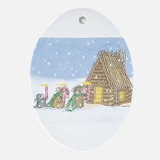 Candlelit Voyage Ornament (Oval)
