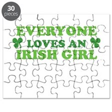 Everyone Loves An Irish Girl St Patricks Day Puzzl
