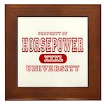 Horsepower University Framed Tile