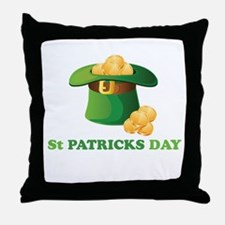 St Patricks Day Lucky Hat Throw Pillow