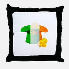 Irish Hat Flag St Patricks Day Throw Pillow