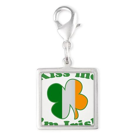 Kiss Me Im Irish Flag St Patricks Day Silver Squar