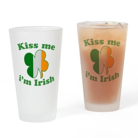 Kiss Me Im Irish Flag St Patricks Day Drinking Gla
