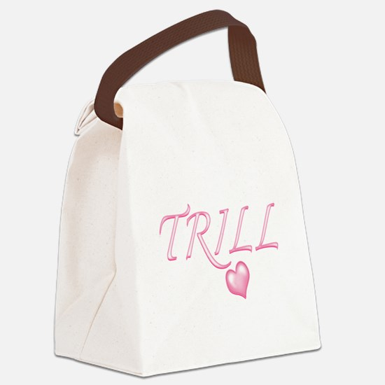 Trill Heart Canvas Lunch Bag