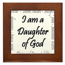 I Am a Daughter of God Framed Tile