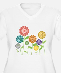Flowers Plus Size T-Shirt