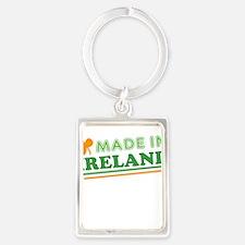 Made In Ireland St Patricks Day Portrait Keychain
