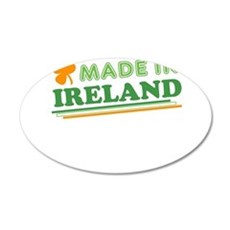 Made In Ireland St Patricks Day Wall Decal