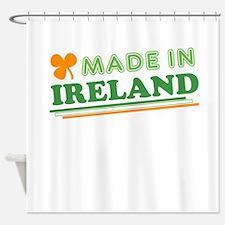 Made In Ireland St Patricks Day Shower Curtain