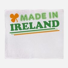 Made In Ireland St Patricks Day Throw Blanket