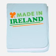 Made In Ireland St Patricks Day baby blanket