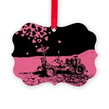 Pink Lunar Rover Of Love Ornament