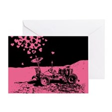 Pink Lunar Rover Of Love Greeting Card