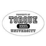 Torque University Oval Sticker