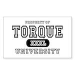 Torque University Rectangle Sticker