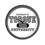 Torque University Wall Clock