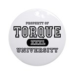 Torque University Ornament (Round)
