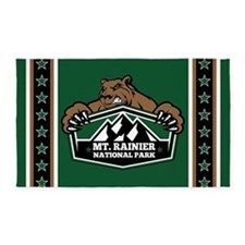 Mt. Rainier Brown Bear 3'x5' Area Rug