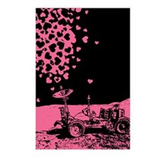 Pink Lunar Rover Of Love Postcards (Package of 8)