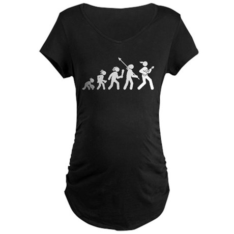 Ukulele Player Maternity Dark T-Shirt