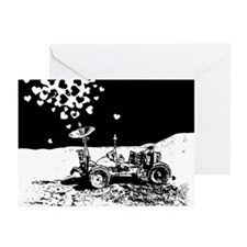 Lunar Rover Of Love Grey Greeting Cards (Pk of 20)