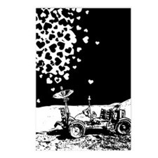 Lunar Rover Of Love Grey Postcards (Package of 8)