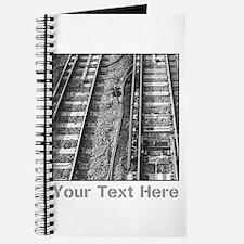 Railroad Tracks. Gray Text. Journal