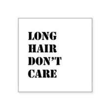 long hair dont care Sticker