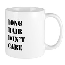 long hair dont care Mug