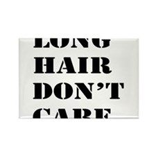 long hair dont care Rectangle Magnet