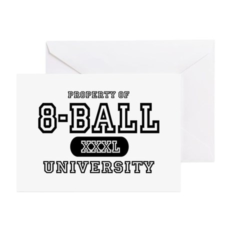 8-Ball University Greeting Cards (Pk of 10)