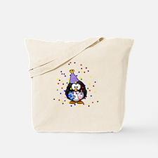 Party Penguin Confetti Tote Bag