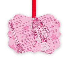 Pink Space Capsule Ornament