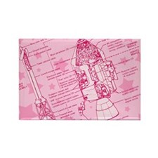 Pink Space Capsule Rectangle Magnet