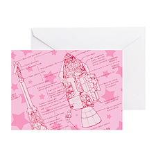 Pink Space Capsule Greeting Cards (Pk of 20)