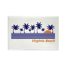 Cute Virginia beach Rectangle Magnet (100 pack)
