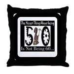 Being 50 Throw Pillow