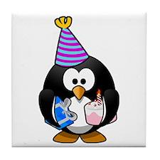 Party Penguin Tile Coaster