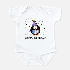 Happy Birthday Penguin Body Suit