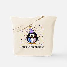 Happy Birthday Penguin Tote Bag