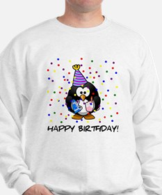 Happy Birthday Penguin Sweatshirt