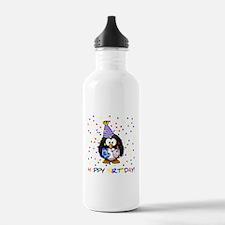 Birthday Penguin Water Bottle