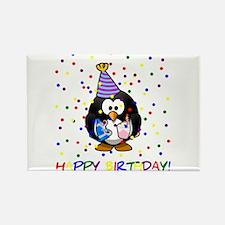 Birthday Penguin Rectangle Magnet