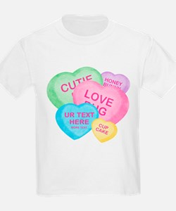 Fun Candy Hearts Personalized T-Shirt