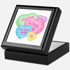 Fun Candy Hearts Personalized Keepsake Box