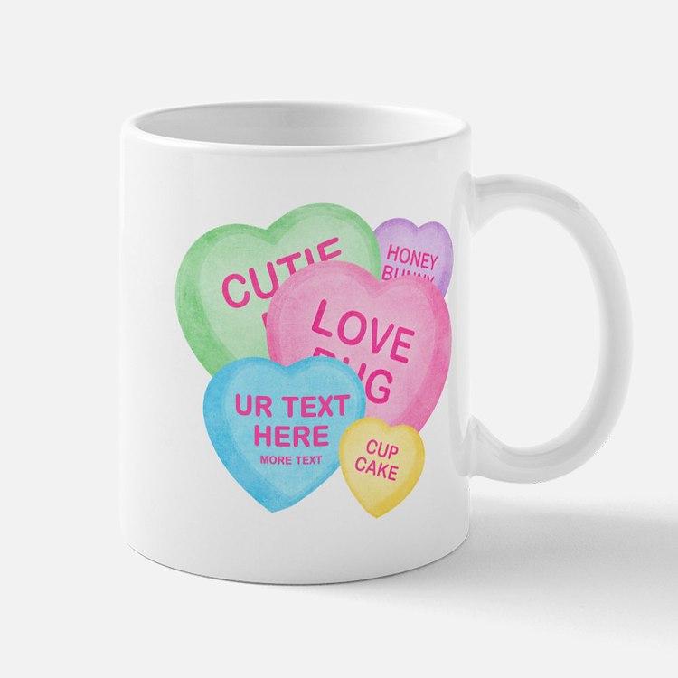 Fun Candy Hearts Personalized Mug